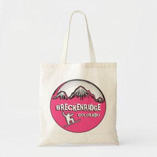 Bolso reutilizable de la snowboard rosada de Breck Bolsa Tela Barata