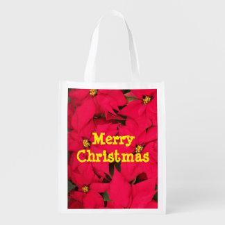 Bolso reutilizable de las Felices Navidad Bolsas Para La Compra