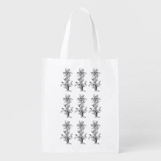 Bolso reutilizable de las flores bolsas de la compra