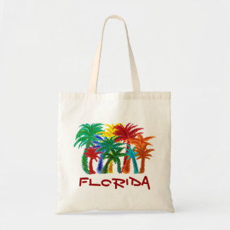 Bolso reutilizable de las palmeras de la Florida Bolsas Lienzo