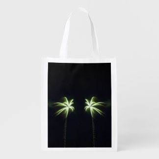 Bolso reutilizable de las palmeras del fuego bolsa para la compra