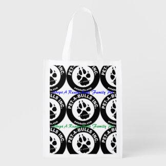 Bolso reutilizable de los Mascota-UNO-Toros Bolsas Para La Compra