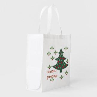 Bolso reutilizable de los saludos de la estación bolsa de la compra