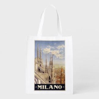 Bolso reutilizable de Milano Milano Italia del Bolsa Para La Compra