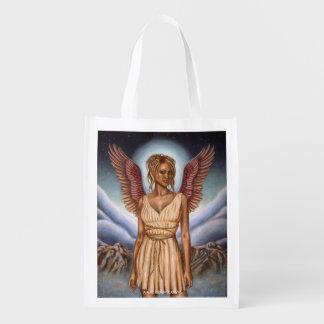 Bolso reutilizable del ángel de guarda bolsa de la compra