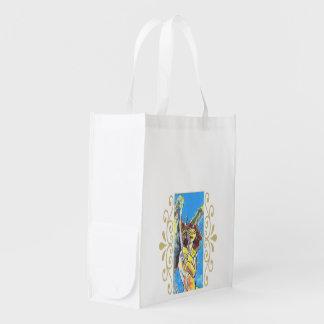 Bolso reutilizable del ángel de guarda bolsas para la compra