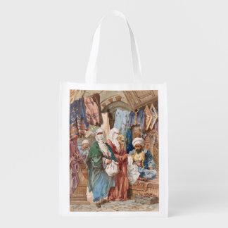 """Bolso reutilizable """"del bazar de seda"""" bolsas para la compra"""