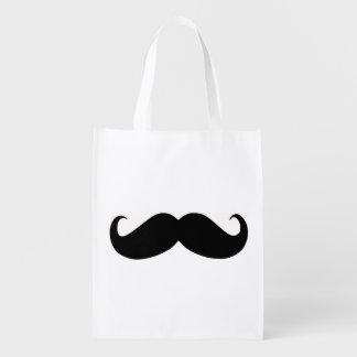 Bolso reutilizable del bigote del inconformista bolsas reutilizables