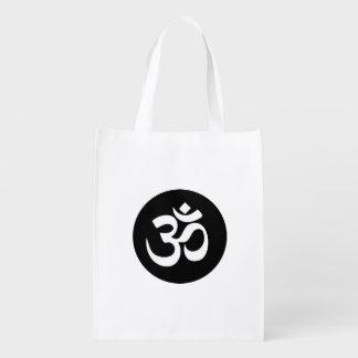Bolso reutilizable del círculo del símbolo de OM Bolsas Para La Compra