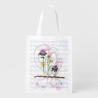 Bolso reutilizable del collage de la sinfonía de bolsas para la compra