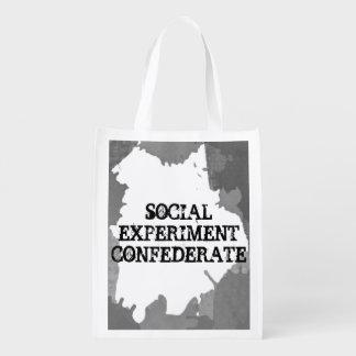 Bolso reutilizable del confederado social del bolsa de la compra