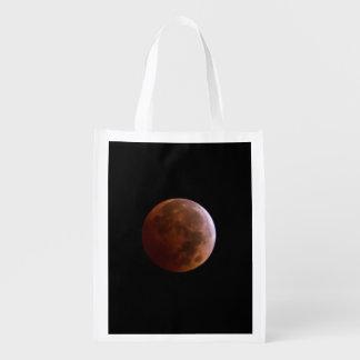 Bolso reutilizable del eclipse lunar bolsa para la compra