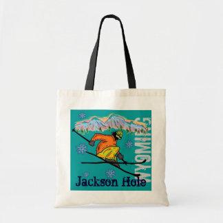Bolso reutilizable del esquí de Jackson Hole Wyomi Bolsas