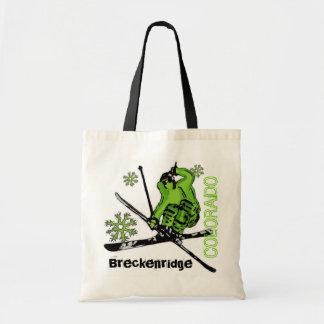 Bolso reutilizable del esquiador verde de Breckenr Bolsa