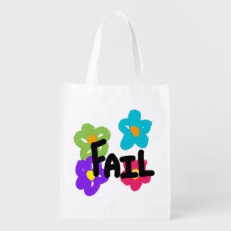 Bolso reutilizable del fall - flor bolsas para la compra