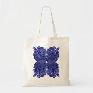 Bolso reutilizable del fractal de la flor bolsa tela barata