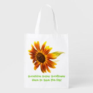 Bolso reutilizable del girasol estupendo de la sol bolsas reutilizables