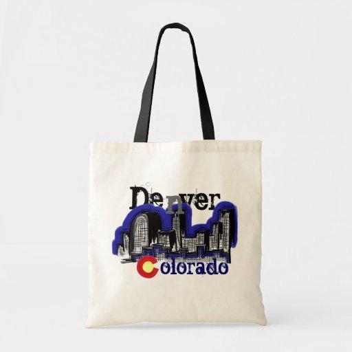 Bolso reutilizable del horizonte de Denver Bolsas Lienzo