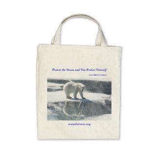 Bolso reutilizable del oso polar bolsas
