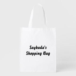 Bolso reutilizable del texto de la plantilla bolsas de la compra