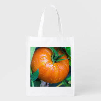 Bolso reutilizable del tomate casi maduro bolsa de la compra
