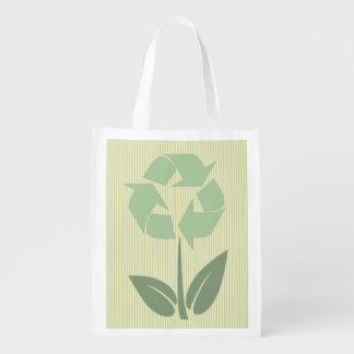 Bolso reutilizable del verde hasta el final bolsa de la compra