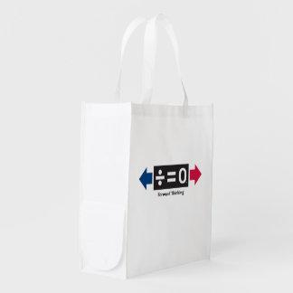 Bolso reutilizable delantero bolsas para la compra