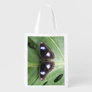 Bolso reutilizable manchado azul hermoso de la bolsa de la compra