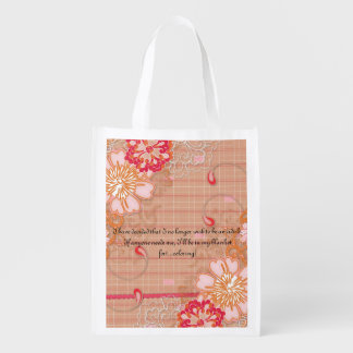 Bolso reutilizable rosado y del moreno de la tela bolsa de la compra