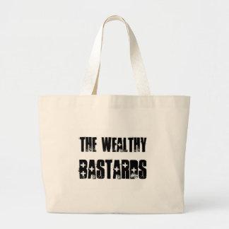 Bolso rico de los bastardos bolsa tela grande