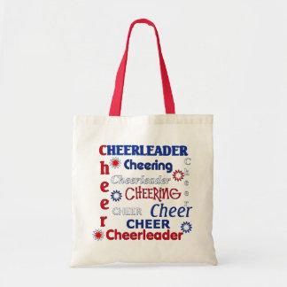 Bolso rojo, blanco, y azul de la animadora bolsa tela barata