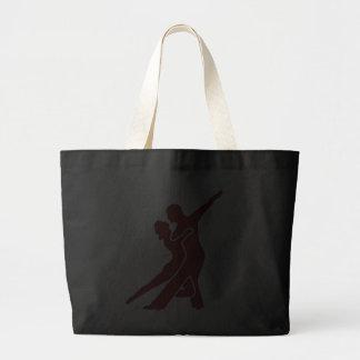 Bolso rojo brillante del logotipo bolsa