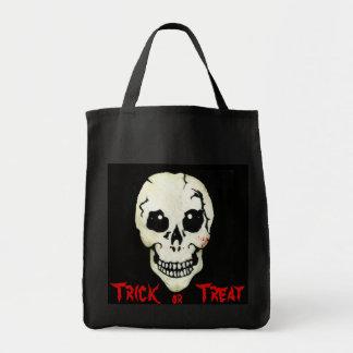 Bolso rojo de Halloween del truco o de la Bolsa Tela Para La Compra
