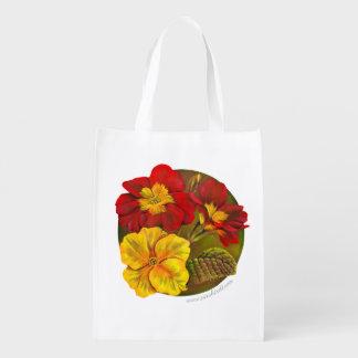Bolso rojo de la acuarela del arte del amarillo de bolsas reutilizables