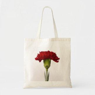 Bolso rojo de la floración del clavel bolsa tela barata