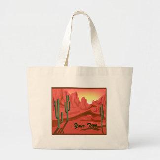 Bolso rojo de la lona de Arizona de la puesta del  Bolsa