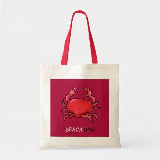 Bolso rojo de la playa del cangrejo rojo bolsas de mano