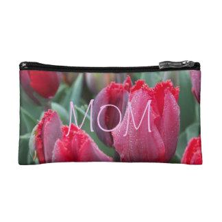 Bolso rojo de los tulipanes de la mamá