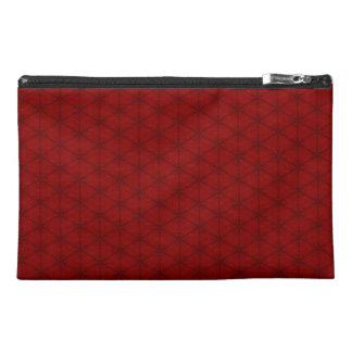 Bolso rojo del accesorio del viaje del hexágono