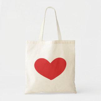 bolso rojo del corazón bolsa