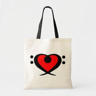 Bolso rojo del corazón del Clef bajo Bolsas De Mano