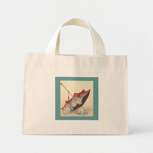 Bolso rojo del eco del paraguas bolsas de mano