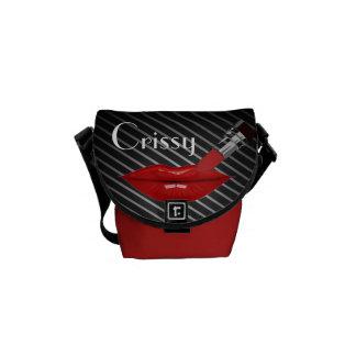 Bolso rojo del lápiz labial/del carrito de las ray bolsas de mensajería