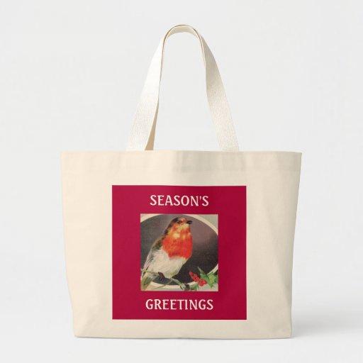 Bolso rojo del pájaro del día de fiesta bolsa