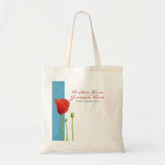 Bolso rojo del regalo de la aguamarina de la amapo bolsa de mano