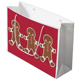 Bolso rojo del regalo del navidad de los muchachos bolsa de regalo grande