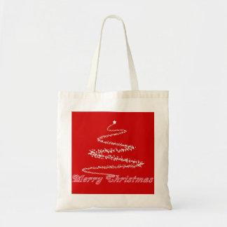 Bolso rojo del rojo del navidad bolsa
