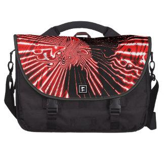 Bolso rojo del viajero del modelo del fractal bolsa de ordenador