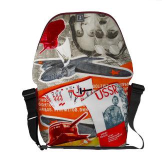 Bolso rojo - la bolsa de mensajero del carrito bolsa de mensajeria