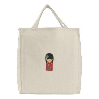 Bolso rojo lindo del bordado de la muñeca del vest bolsa
